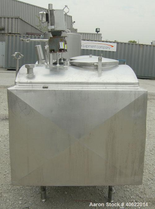 "Used-Flavor tank, (2) compartment, approximate 250 gallon each, 304 stainless steel.  41"" long x 41"" wide x approx 34"" deep...."