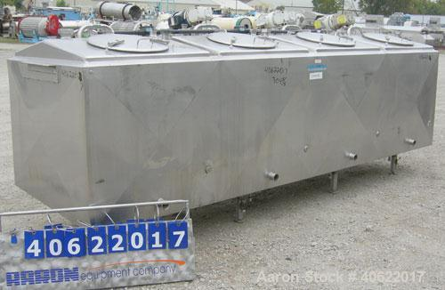 Used-  Mueller Flavor Tank, (4) compartment, approximate 200 gallon each, 304 stainless steel, jacketed.  Each compartment m...