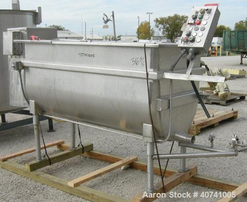 "Used- Perma-San Trough Style Tank, 300 gallon, 316 stainless steel, horizontal. ""U"" shaped trough 32'' wide x 74'' long x 35..."