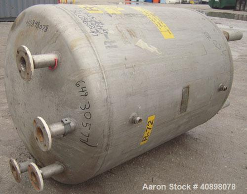 "Used- Niles Steel Tank Company Pressure Tank, 250 gallon, 316 stainless steel, vertical. 40"" diameter x 48"" straight side. D..."