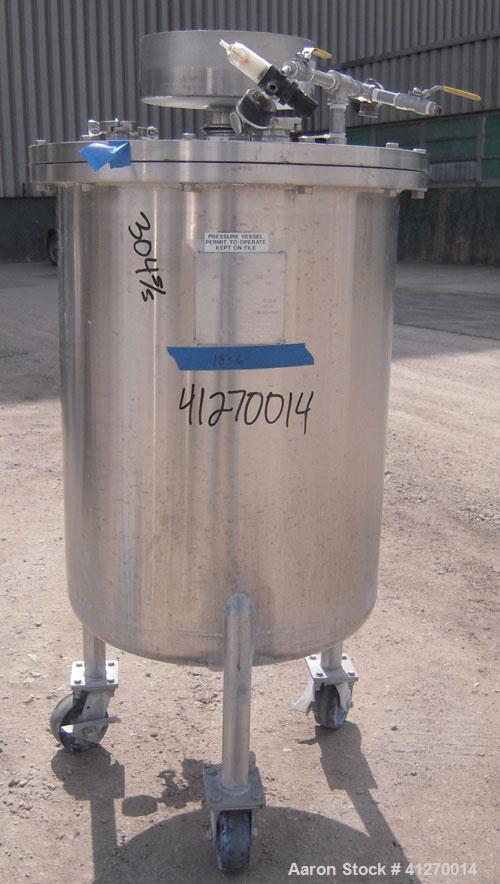 Used- 50 Gallon Stainless Steel Custom Fabricators Pressure Tank