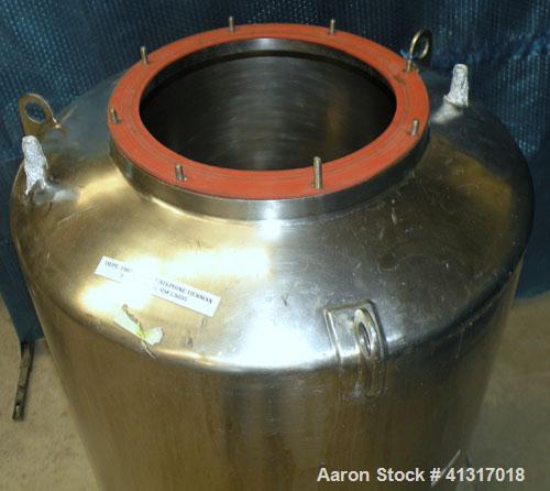"Used- Groen Pressure Tank, Model 120 GAL SP, 120 Gallon, 304 Stainless Steel, Vertical.  30"" diameter x 38"" straight side. D..."