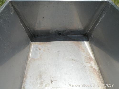 "Used- Trough/Tank, 150 Gallon, 316 Stainless Steel Horizontal. Trough measures approximately 94"" long x 24"" wide x 16"" deep...."