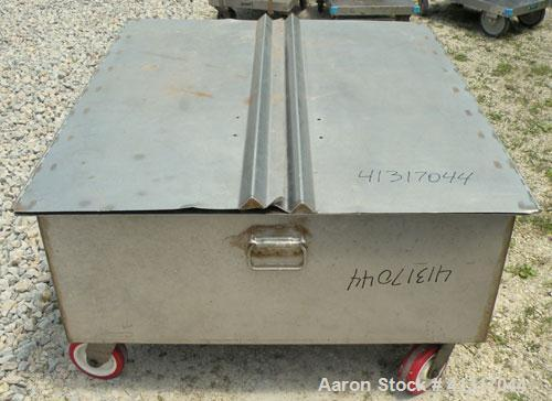 Used- 120 Gallon Stainless Steel Walker 316 Stainless Steel Tank, Model SP-7144