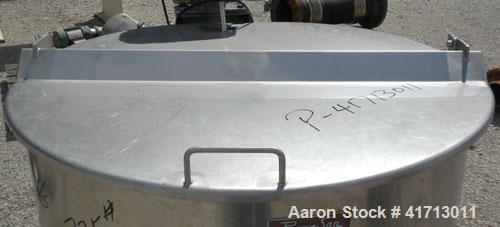 "Used- Perma San Tank, 170 Gallon, Model 170 GAL OVS, 316 Stainless Steel, Vertical.  38 1/2"" diameter x 35 1/2"" straight sid..."