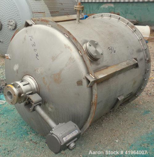"Used- Whiting Metals Tank, 400 Gallon, 316 stainless steel, vertical. 48"" diameter x 48"" straight side, dished top and botto..."