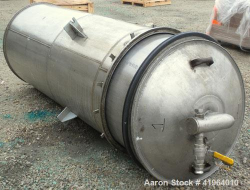 "Used- Toronto Coppersmithing Percolator Tank, 300 gallon, 304 stainless steel, vertical. Approximately 34"" diameter x 77"" st..."