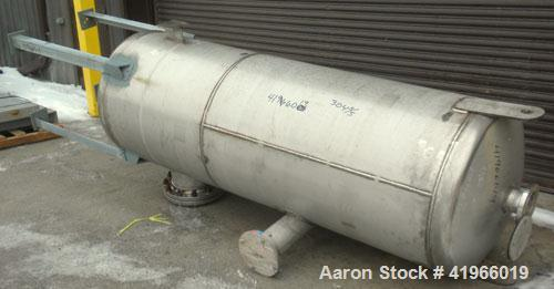 "Unused- DCR Construction Pressure Tank, 350 Gallon, 304 Stainless Steel, Vertical. 36"" diameter x 96"" straight side, dish to..."