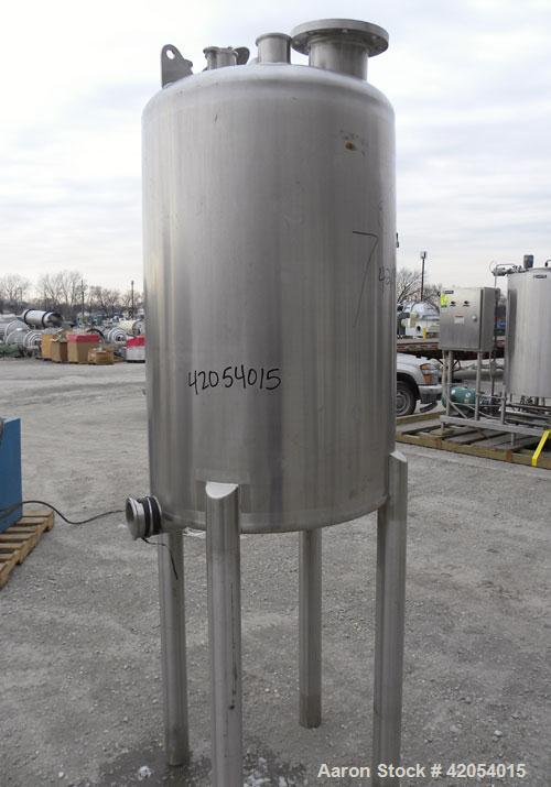 "Used- Letsch/ Precision Stainless Tank, 132 gallon, 316L stainless steel, vertical. 30"" diameter x 44"" straight side, dish t..."