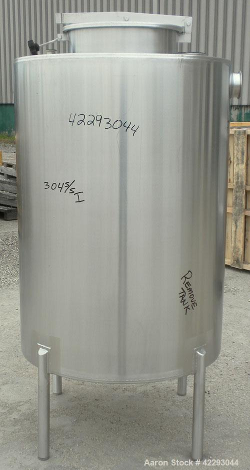 "Used- Hartel Tank, 200 Gallon, 304 Stainless Steel, Vertical. 36"" Diameter x 48"" straight side. Flat top and bottom. Opening..."