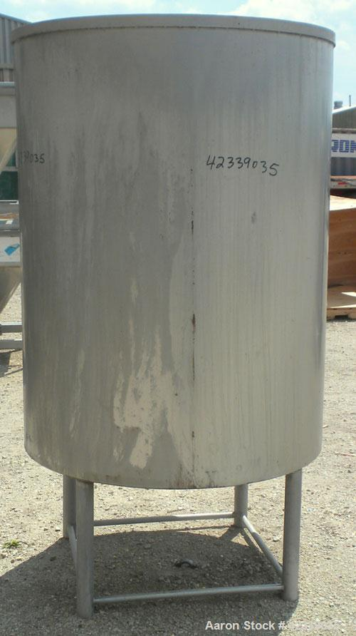 "Used- Tank, Approximately 450 Gallon, 304 Stainless Steel, Vertical. 45"" Diameter x 60"" straight side, open top, no cover, s..."