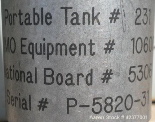 "Used- Mueller Pressure Tank, 66 Gallon, model F, 316L stainless steel, vertical. 24"" Diameter x 32"" straight side, cone top,..."