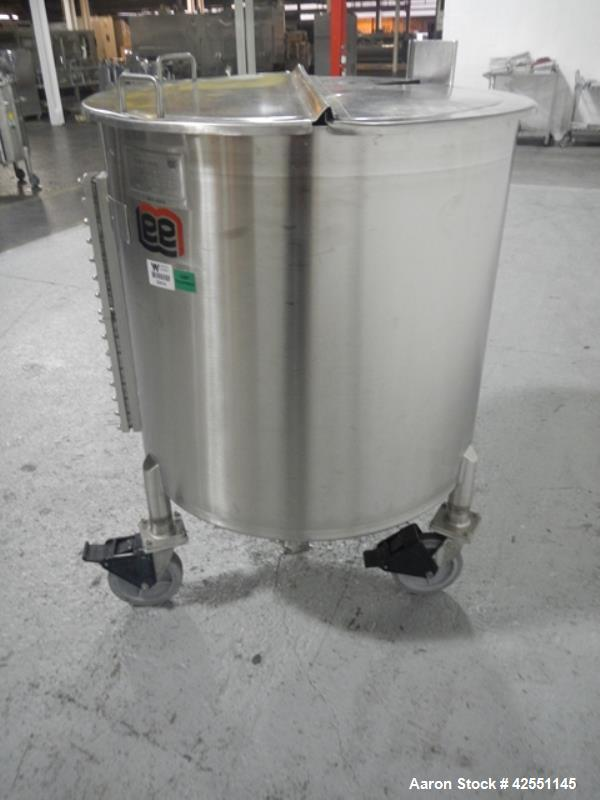"Used- Lee tank, 130 gallon, model 500LDBT, stainless steel construction, approximately 36"" diameter x 36"" straight side, ope..."