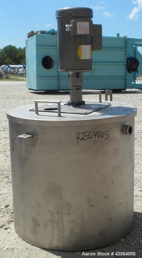 Used- 25 Gallon Stainless Steel Tank, Model CD100VSS-400-014-150-36-1T6
