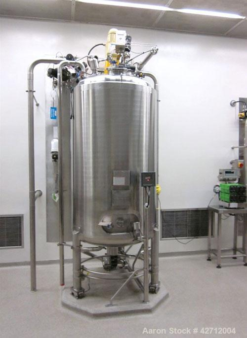 Used- BCD Engineering Receiver, 1000 Liter (264 Gallon), 316L Stainless Steel. Internal rated 3.5 bar (50 psi) & full vacuum...
