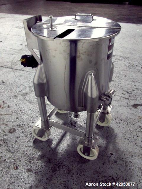 "Used- Perma-San Tank, 15 Gallon, Model OVC. Stainless steel construction, approximately 16"" diameter x 16"" straight side, op..."