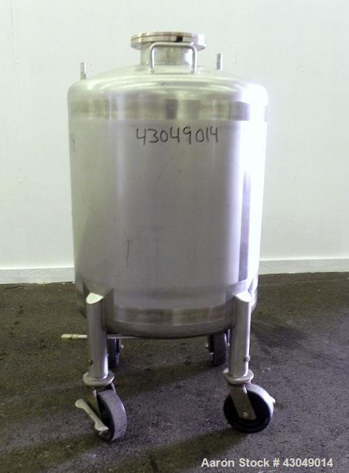 Used- Northland Stainless Pressure Tank, 200 Liter (52.8 Gallon), 316L Stainless Steel, Vertical.24'' Diameter x 22'' straig...