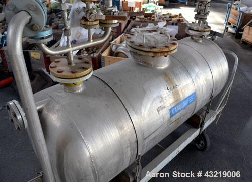 Used- 630 Liter Stainless Steel Mobile Tank