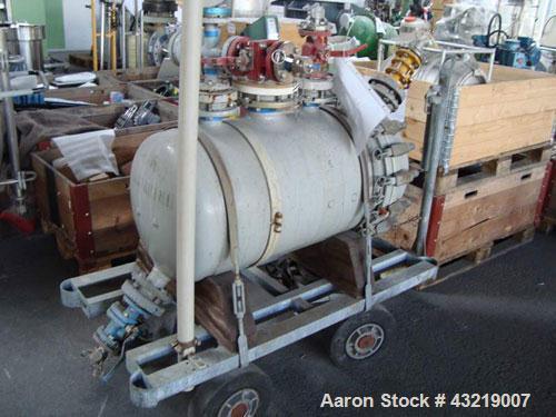 Used- Inox horizontal tank, 316L Stainless steel. 201 gallon (760 liter). Not jacketed. 248 deg F (200 deg C). New 1989. Ser...