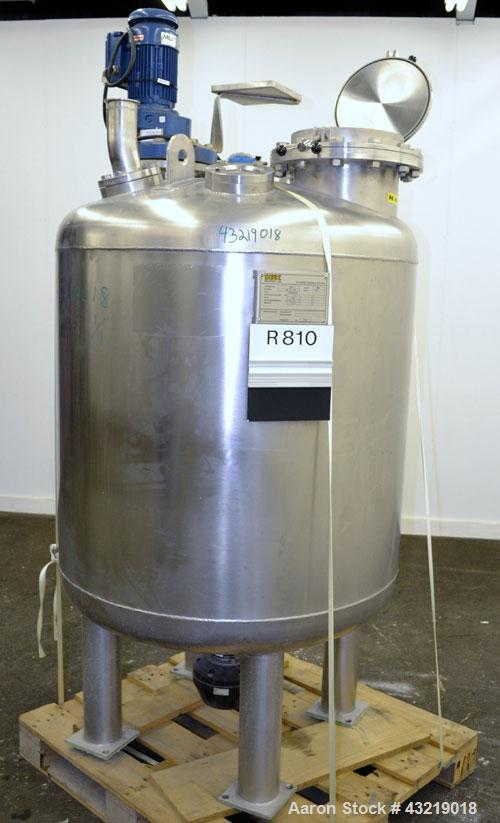 "Used- Inox-Maurer AG Pressure Tank, 900 Liter (238 Gallon), 316L Stainless Steel, Vertical. Approximate 39"" diameter x 34"" s..."