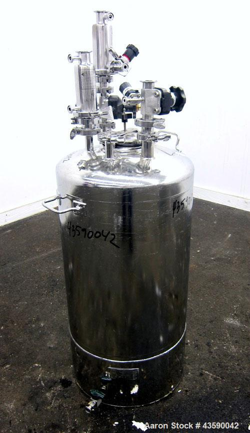 Used- 25 Gallon Stainless Steel Alloy Products Pressure Tank