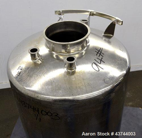 Used- 50 Gallon Stainless Steel Apache Stainless Pressure Tank