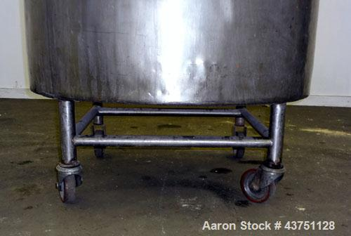 "Used- Groen Tank, 200 Gallons, 304 Stainless Steel, Vertical. 42"" Diameter x 35"" straight side. Dished top, 1"" sloped bottom..."