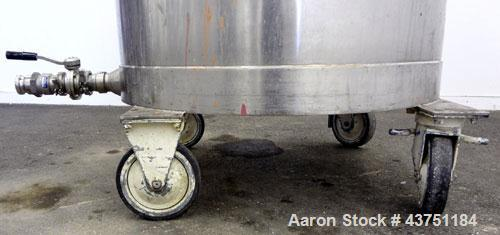 "Used- Tank, 200 Gallon, 304 Stainless Steel, Vertical.  Approximately 38"" diameter x 47"" straight side.  Open top with a 1 p..."