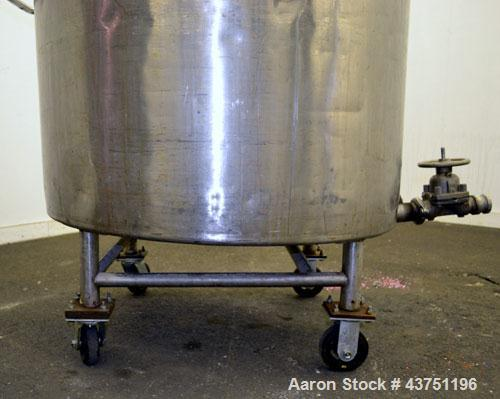 "Used- Groen Tank, 200 Gallon, 304 Stainless Steel, Vertical.42"" Diameter x 35"" straight side.Dished top, 1"" sloped bottom.Op..."