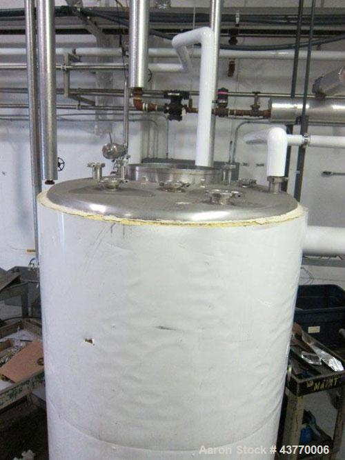 "Used- 460 gallon SS Jacketed Hot Water Tank; 46"" x 64""."