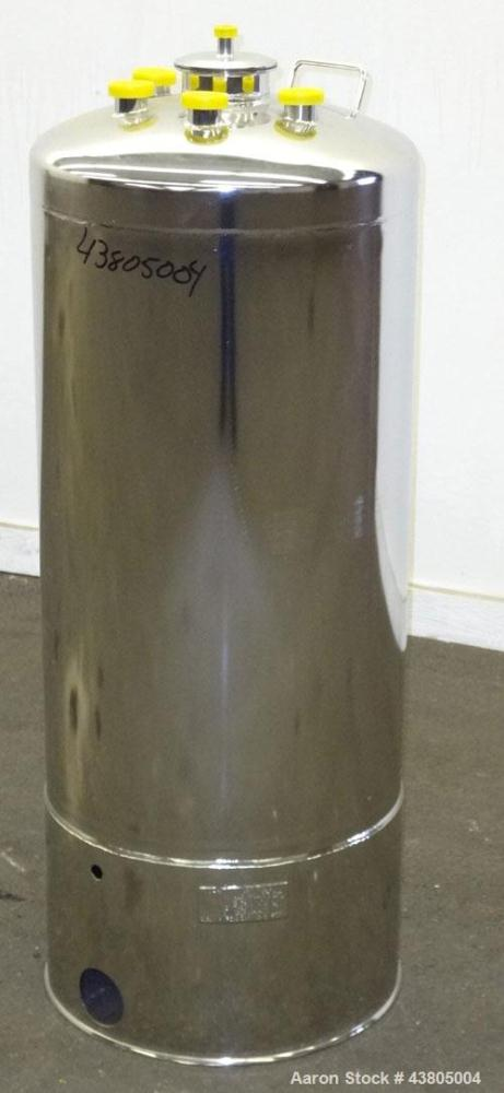 Used- 36.99 Gallon Stainless Steel Alloy Products Pressure Tank
