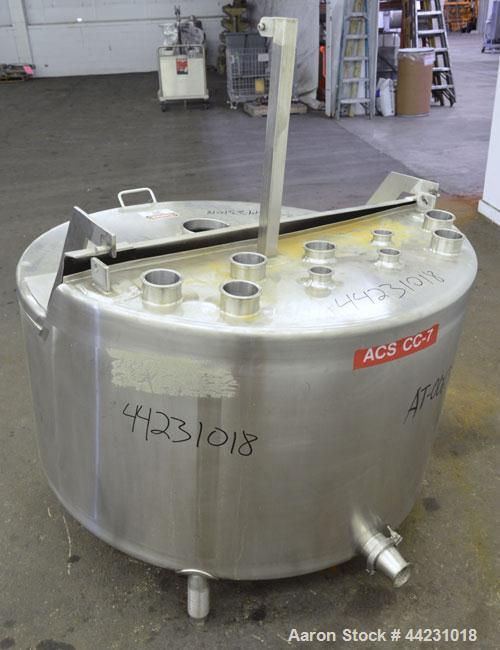 "Used- Stainless Concepts Balance Tank, 200 Gallon, 316 Stainless Steel, Vertical. Approximate 50"" diameter x 23"" straight si..."