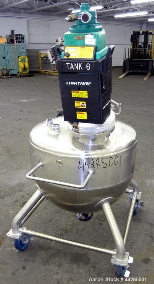 "Used- Lee Industries Tank,  50 Gallon, Model 50A, 316 Stainless Steel, Vertical. Approximate 30"" diameter x 27"" deep. Dished..."