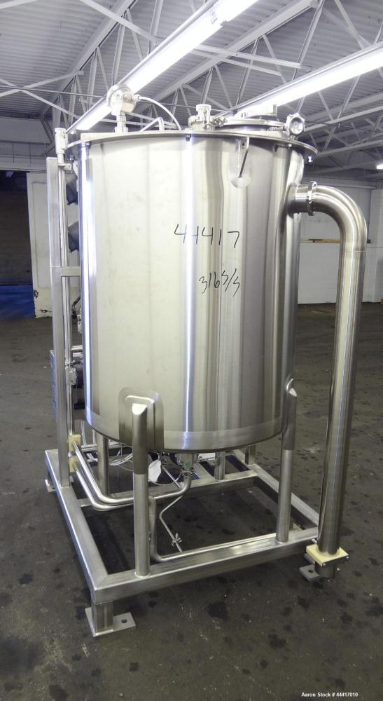 "Unused- Northland Stainless Tank, 750 Liter (198 Gallon), 316 L Stainless Steel, Vertical.  38"" Diameter x 45"" straight side..."