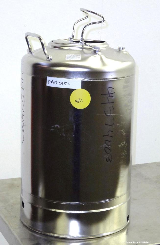 Used- 5 Gallon Stainless Steel Alloy Products Pressure Tank