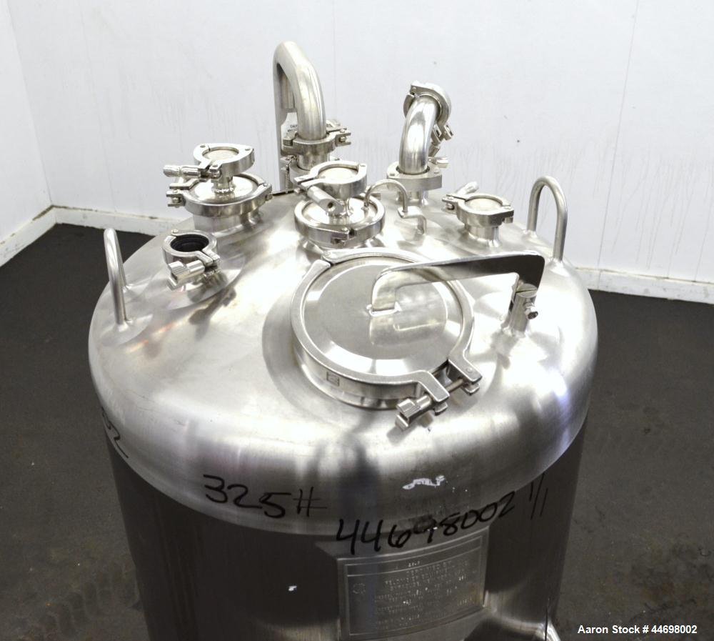 "Used- Feldmeier Pressure Tank, 200 liter (52.8 gallon), 316 L stainless steel, vertical. Approximately 24"" diameter x 30"" st..."