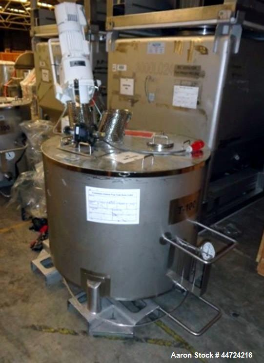 Used- 500 Litre Stainless Steel Vertical Mix Tank