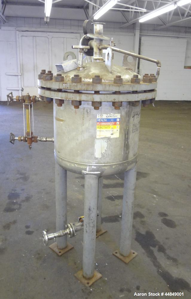 Used- 40 Gallon Stainless Steel Whiting Metals Pressure Tank