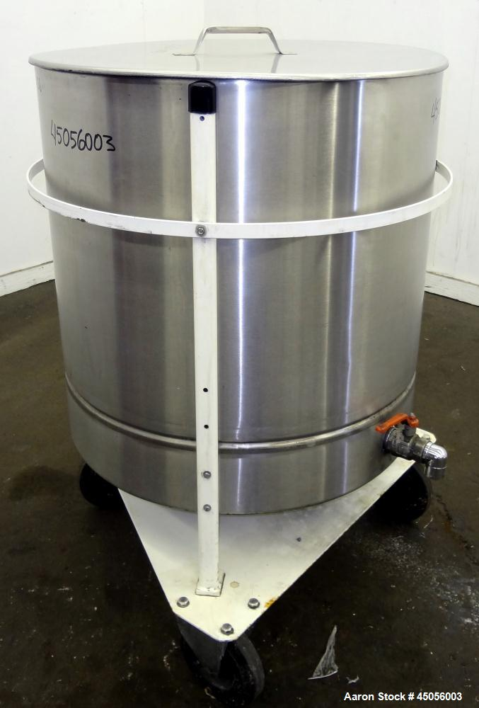 Used- 300 Liter Stainless Steel M.J.S. Tank