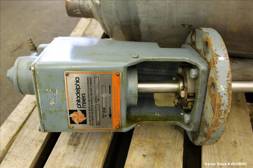 Used- 400 Liter Stainless Steel Gaston County Pressure Tank, Model PMGA4-14,