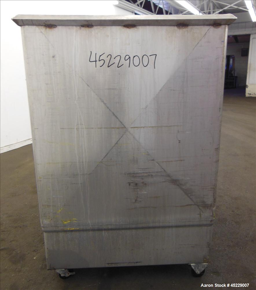 "Used- Mueller Porta Tank, Approximate 450 Gallon, 316 Stainless Steel. 51"" long x 44"" wide x 48"" straight side, open top, no..."
