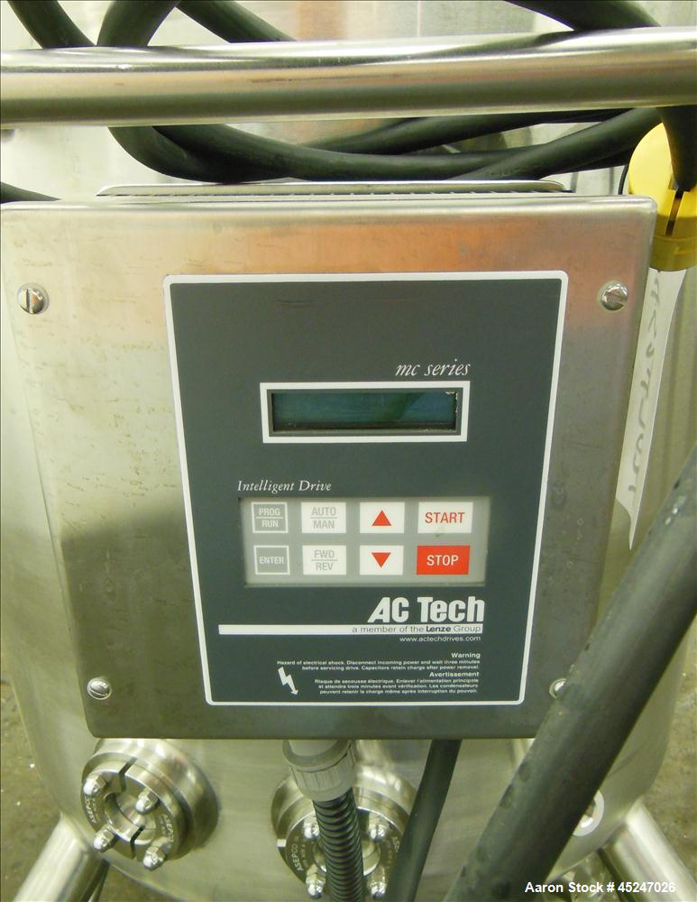 Used- 300 Liters Stainless Steel Stainless Fabrication SFI Pressure Tank, Model
