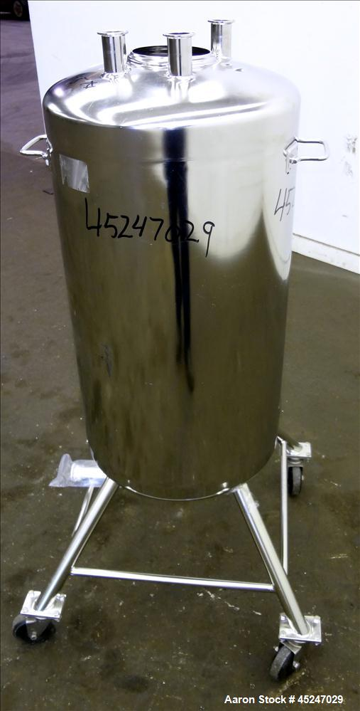 Used- 36 Gallons Stainless Steel Alloy Products Pressure Tank