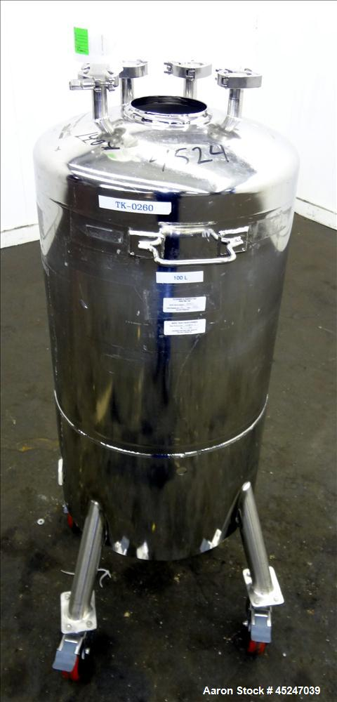 Used- 26 Gallon Stainless Steel Alloy Products Pressure Tank