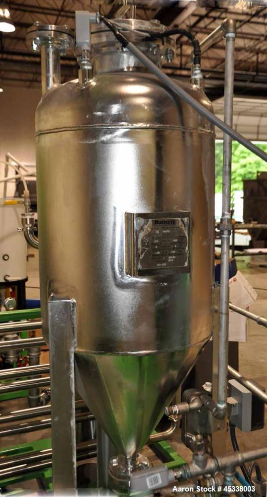 Used- Stainless Steel Buckeye Fabricating Co ASME Pressure Vessel