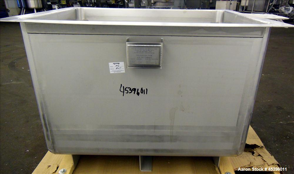 Unused- 200 Gallon Stainless Steel Apache Stainless Equipment Square Gravity Fil