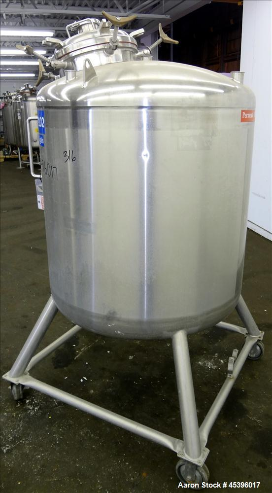 Used- 929.2 Liter Stainless Steel Precision Stainless Pressure Tank