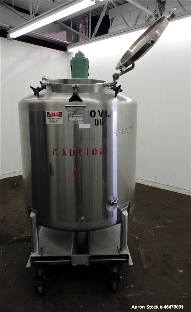 Used- 850 liter Stainless Steel Scherping Systems Tank, Model MT-850L