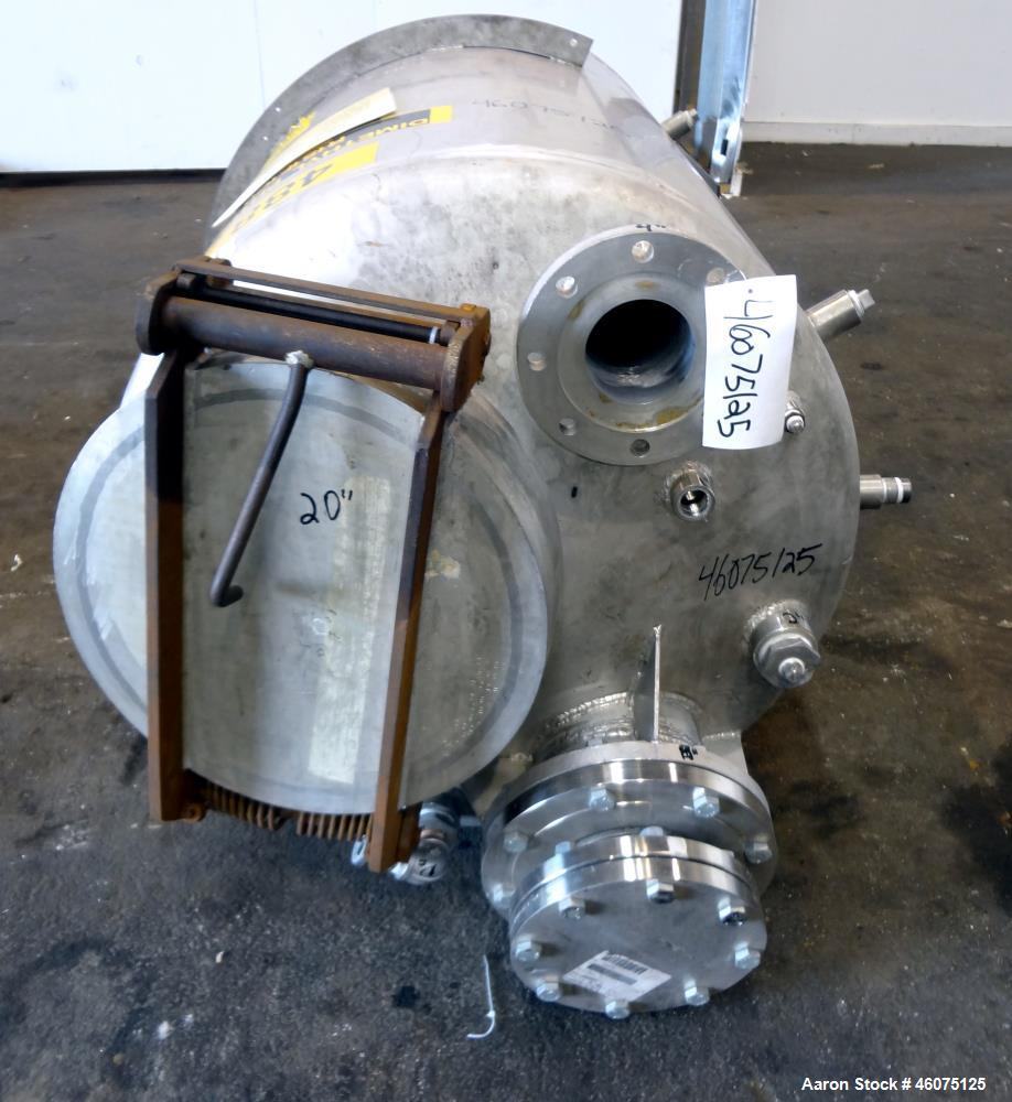 "Used- Tank, 225 Gallon, 304 Stainless Steel, Vertical. Approximate 36"" diameter x 48"" straight side, dished top & bottom. To..."