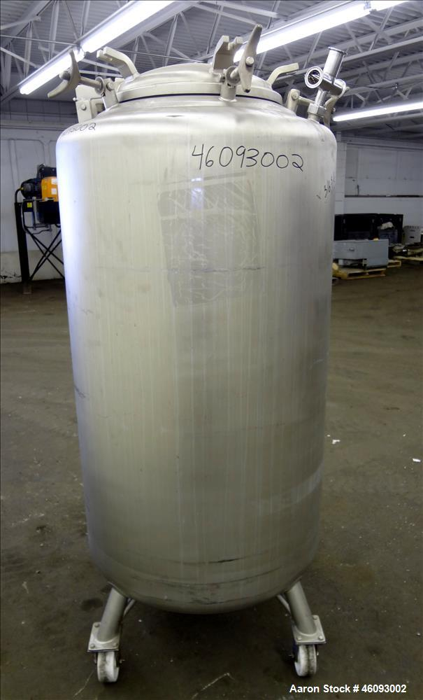 "Used- Precision Stainless Pressure Tank, 198.12 Gallons (705 Liters), 316L Stainless Steel, Vertical. 32"" Diameter x 50"" str..."